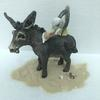 Seaside donkey and seagull stoneware ceramic sculpture. 15cm tall. £120