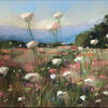 Summer Flowers -  soft pastel painting