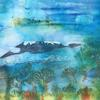Mt Kilimanjaro - watercolour and brusho Destinations