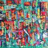 'Favela vibe' 120x60cm. Acrylic on canvas ready to hang.