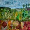 Allotment. Acrylic on paper 10x10