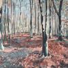Autumn light, Ashridge estate. Acrylic on canvas 40 x 40cm
