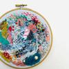 Freestyle contemporary colourful textural abstract embroidery art