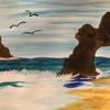 Seaside Scene in Acrylics