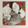Five Cats : Drypoint with Chine Colle 25x33cm unframed £70