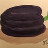 An usual purple pepper