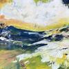 Golden Horizon. Mixed Media on Canvas, framed