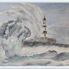 Seaham Lighthouse in a Storm