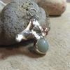 Green Aventurine with Copper detail Pendant. Part of my Seascape Collection.