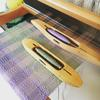 Weaving silk and wool on a traditional table loom