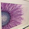 Purple half bloom. Alcohol inks