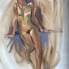 Life drawing oil sketch. Female /Figure/