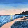 'Caribbean Sunset' acrylic on canvas