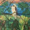 Laughing kookaburra - acrylics Big and bold