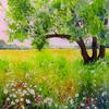 Summer Field. Watercolour.
