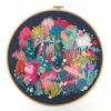 'Riverside Rambles' Freestyle Contemporary Abstract Colourful Embroidery Art