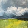 """Pending summer storm"" acrylic original on box canvas 40cm x 40cm"