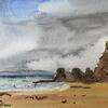 En Plein Air - Hope Cove watercolour