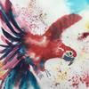 Parading parrot - brusho Natural world