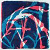 'Blue & Red Seaweed' Print made using seaweed.
