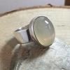 Grey Moonstone Ring.
