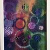 "New worlds. Framed acrylic on canvas board.  10x12"". £60"