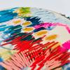 'Purwell Meadows 1' Freestyle Contemporary Abstract Colourful Embroidery Art