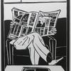 Homage To The Broadsheet, Limited edition linocut print