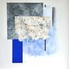 Blue Motif. 125cmx125cm. Mixed media on canvas. 2018
