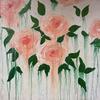 Peach Roses, Acrylic on Canvas, 60x60cm