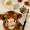 Highland Cow Original Painting and Patreon Online Workshop Watercolour