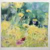 Inspired by the garden designs of Piet Oudolf.  Oil on paper; 57 x 59cm framed.