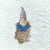 Quirky Ceramic Dish with a Wizard -Ceramic/Gems and Sparkles set in resin Size:14 x 16.5 x 12 cm