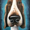 """Nose Hound"" acrylic on box canvas"
