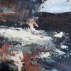 Abstract Landscape. Mixed media on Canvas Board