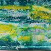 Abstract sea: mixed media on wood, 80x60cm, £90