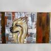 Dog Pomeranian acrylic canvas