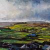 Across to the Moor, oil on canvas, 30cm x 24cm, nfs