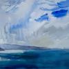 Landsend After Rain - watercolour 760x560 mm