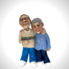 Alan & Dorienne (Me and my husband) Example of commission work  ceramic sculptures from clients photo's