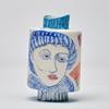 Porcelain People vessel., Faces NL 11cm tall x 8cm wide. Holds water, unique