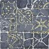 "Ancient Floor Tiles 1 - Linocut monoprint 6"" x 8"""