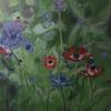 Anemones. Oil on board; 57 x 70cm framed.