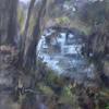 Batford Springs, mixed media, 65 x 48
