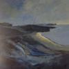 The Beach Below, mixed media, 60 x 60