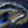 Derbyshire Dale, mixed media, 36 x 36, framed