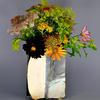 rectangular slab built vase decorated with slips, engobes, ceramic ink
