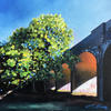 Arnos Park Viaduct, oil painting on canvas board, 30 x 30cm, £180