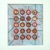 'Atomic Grid' mixed media