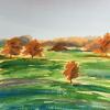 Autumn on the Common - watercolour